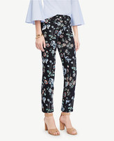 Ann Taylor Tall Kate Wild Flower Cropped Pants