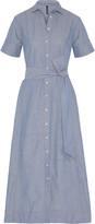 Lisa Marie Fernandez Patchwork stretch cotton-blend shirt dress