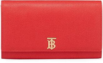 Burberry Hannah Grainy Crossbody Bag, Bright Red