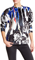 DKNY Printed Pullover Sweater