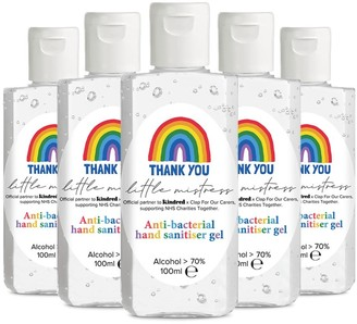 Little Mistress X Kindred Rainbow Thank You Nhs Hand Sanitiser - Pack Of 5