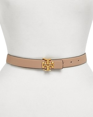 Tory Burch Women's Kira Leather Logo Belt