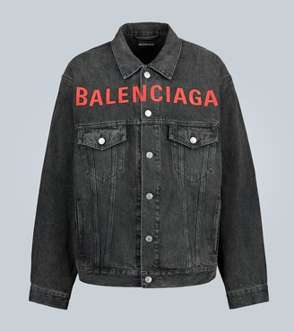 Balenciaga Oversized denim jacket with logo