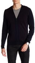 Ben Sherman Striped Zip Front Cardigan
