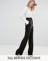 Alter Tall Tie Waist Wide Leg Pant With Side Split