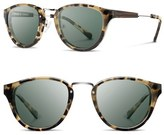 Shwood Women's 'Ainsworth' 49Mm Acetate & Wood Sunglasses - Black/ Silver/ Grey