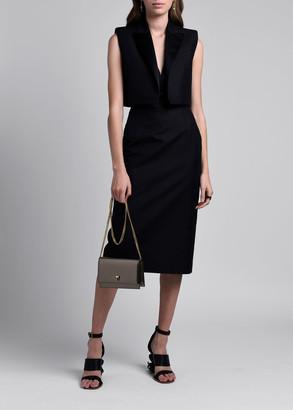 Alexander McQueen Removable Vest Layer V-neck Sleeveless Dress