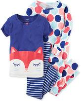 Carter's 4-Pc. Cat & Dots Pajama Set, Baby Girls (0-24 months)