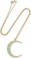 Andrea Fohrman Luna 18-karat Gold Turquoise Necklace - one size