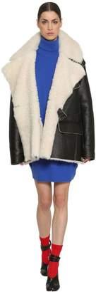 Maison Margiela Oversized Shearling Leather Jacket