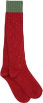 Gucci Stretch Heavy Wool Rib Knit Socks