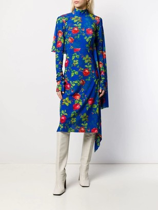 Vetements Opened Back Floral Dress