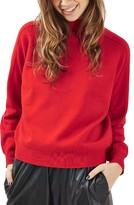 Topshop Women's Mock Neck Sweater