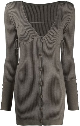 Jacquemus Ribbed Buttoned Knitted Dress