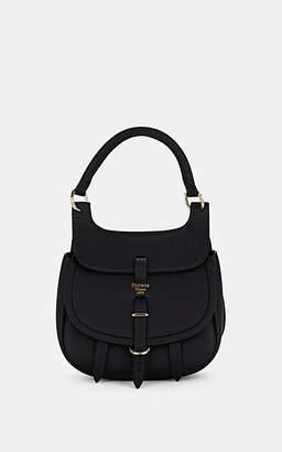 Fontana Milano Women's Chelsea Toy Leather Saddle Bag - Black