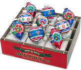 Christopher Radko Shiny Brite Traditional Brights Tulips With Reflectors & Rounds Boxed Ornaments, 9-Pc. Set