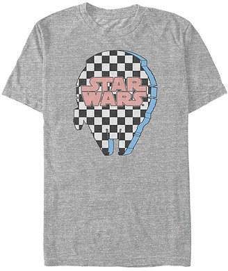 Fifth Sun Tee Shirts ATH - Star Wars Athletic Heather Checker Falcon Tee - Adult
