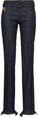 Prada Ruched Hem Jeans
