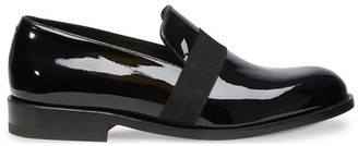 Jm Weston Patent black calf leather loafers