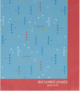 Richard James Polka Dot Silk Pocket Square