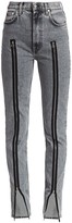Helmut Lang Femme Hi Spikes Zipper Bootcut Jeans
