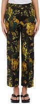 Dries Van Noten Women's Powell Floral Jacquard Crop Trousers-Yellow, Black