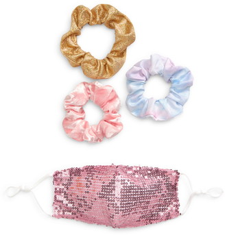 Capelli New York Kids' Face Mask & Assorted Scrunchies Set