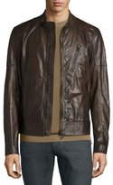 Belstaff Moreland Perforated Leather Jacket, Brown