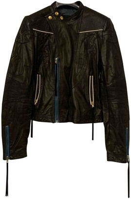 Just Cavalli Black Leather Jacket for Women