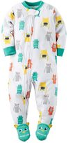 Carter's Toddler Boy Monster Footed Pajamas