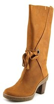 El Naturalista Nf72 Women Round Toe Leather Tan Mid Calf Boot.