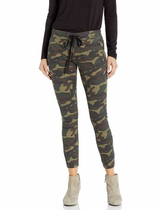 Cover Girl Women's Tall Plus Size Army Style Camo Print Skinny Button or Drawstring Jogger