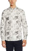 Whyred Men's Hammond Marble Aztec Long Sleeve Casual Shirt