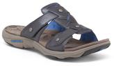 Adjustable Slide Sandals With Leather Upper