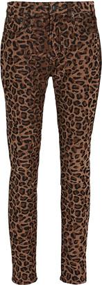 R 13 Alison Leopard Corduroy Skinny Pants