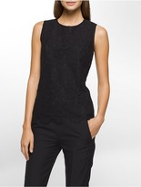 Calvin Klein Allover Lace Sleeveless Top