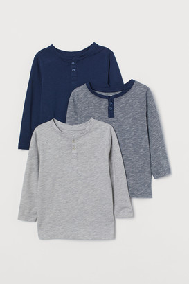 H&M 3-pack Henley Shirts