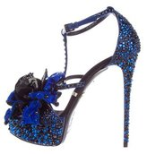 Gianmarco Lorenzi Crystal-Embellished Platform Sandals