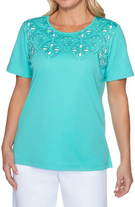 Alfred Dunner Cutout Tee - Petite