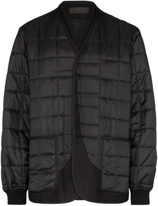Haider Ackermann quilted collarless jacket