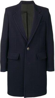 Ami Lined Two Buttons Coat