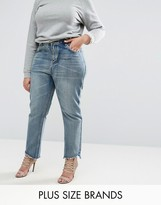 Boohoo Plus Raw Edge Mom Jeans