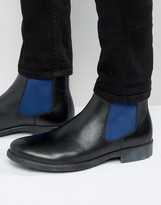 Dune Chunky Chelsea Boots With Color Pop Detail