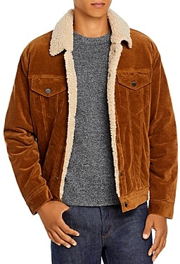 Blank NYC Corduroy Sherpa Lined Regular Fit Trucker Jacket