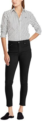 Lauren Ralph Lauren Premier Skinny Ankle Jeans (Perfect Black Wash) Women's Jeans