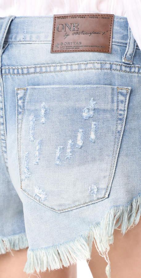 One Teaspoon Blue Jane Bonita Shorts