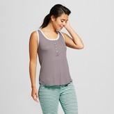 Women's Ribbed Sleep Top Iron Gray - Xhilaration