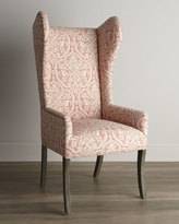 Haute House Pink Damask Wing Chair