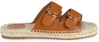 Joie Cagney Leather Espadrille Slides