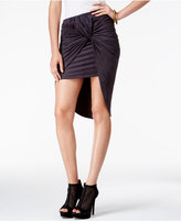 Izzy & Me Juniors' Faux-Suede Knotted High-Low Skirt